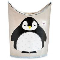 3 Sprouts Penguin Laundry Hamper in Black