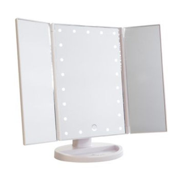 Impressions Vanity Co. Touch 3.0 Led Trifold Makeup Mirror, Size One Size - White
