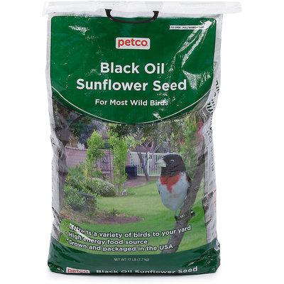 Petco Black Oil Sunflower Seed Wild Bird Food, 17 lb Bag