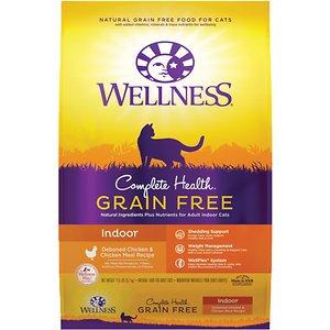 Wellness Complete Health™ Grain Free Indoor: Deboned Chicken & Chicken Meal Dry Cat Food