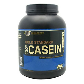 OPTIMUM NUTRITION GOLD STANDARD 100% Micellar Casein Protein Powder, Slow Digesting, Helps Keep You Full, Overnight Muscle Recovery, Cookies and Cream, 4 Pound [Cookies and Cream]