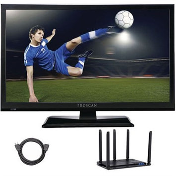 Proscan PLEDV2488A-E 24-Inch LED TV-DVD w/ Antenna + 6FT HDMI Cable Cut The Cord Bundle