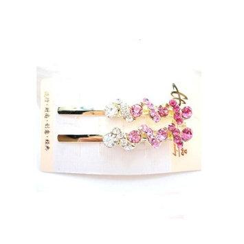 Fashion rhinestones small hair clip side clip for women YHQ042,rose