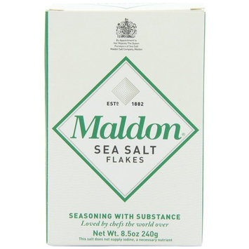 Maldon Sea Salt Flakes, 8.5 ounce Boxes (New Super Size Package of 6) by MALDON CRYSTAL SALT
