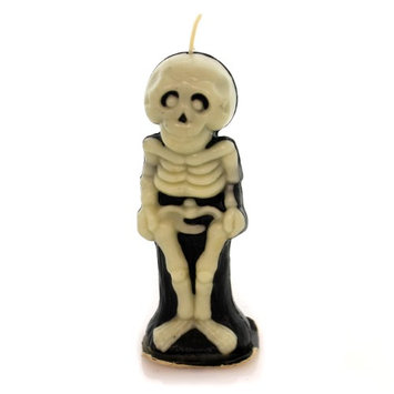 Halloween GURLEY SKELETON CANDLE Wax Bones Vintage Ta204