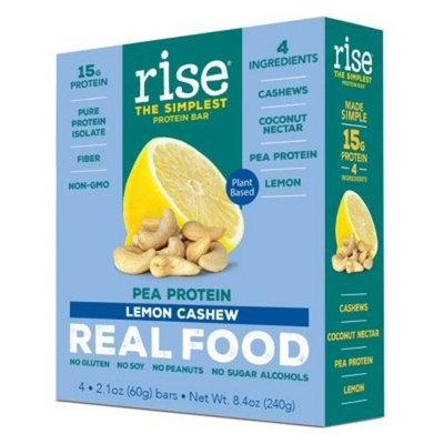 Rise Bar Plant-Protein Bar - Lemon Cashew - 4ct