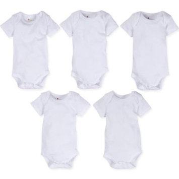 Baby Unisex (0-9M) MiracleWear White Bodysuit-5pk. 6-9 Months, White
