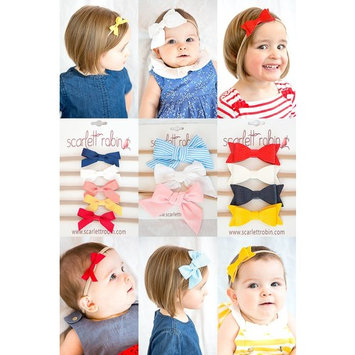 12 Baby Girl Hair Bows on Nylon Headbands   Cutie Pie Variety Pack   By Scarlett Robin