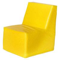 Foam Heads foamnasium Straight Back Chair Play Furniture - Yellow (Small)