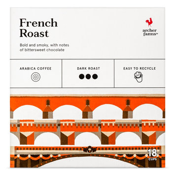 Mother Parkers Tea & Coffee Inc. French Roast Coffee Single Cups 18ct - Archer Farms