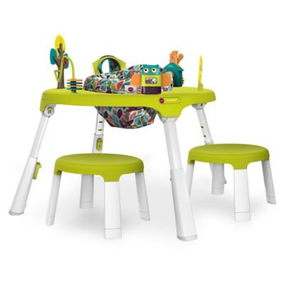 Oribel PortaPlay™ Forest Friends 4-in-1 Foldable Activity Center with Stools in Green