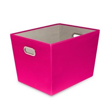 Honey Can Do 60 Qt. Hot Pink with Copper Handles Canvas Tote
