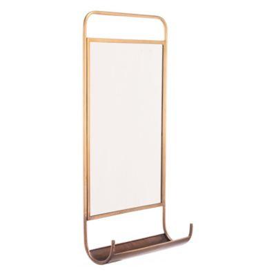 Zuo Mod Steel And Mirror Wall Organizer, In Golden
