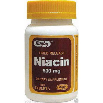 Harvard Drug Group Llc Rugby Niacin, Timed Release, 500mg, 100ct 305367030012A398