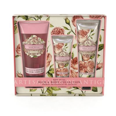 Aromas Artesanales De Antigua Rose Petal Bath & Body Collection