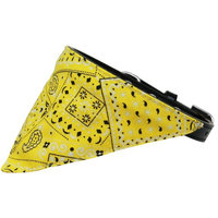 Mirage 624-13 BK12 Yellow Western Bandana Pet Collar Black - Size 12