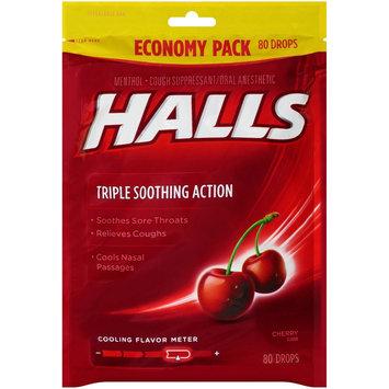 Cadbury Adams Halls Cherry Cough Drops - 80 Count