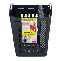 United Solutions LN0330 Black Hands Free Laundry Tote -Laundry Basket with Shoulder Strap for Hands