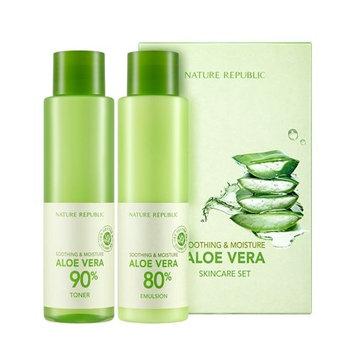 Soothing & Moisture Aloe Vera SKINCARE SET includes toner and emulsion