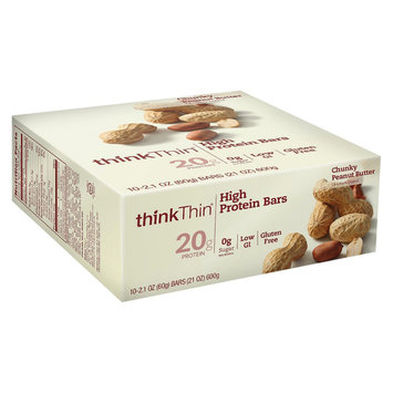 Thinkthin think Thin High Protein Chunky Peanut Butter Bars - 8ct