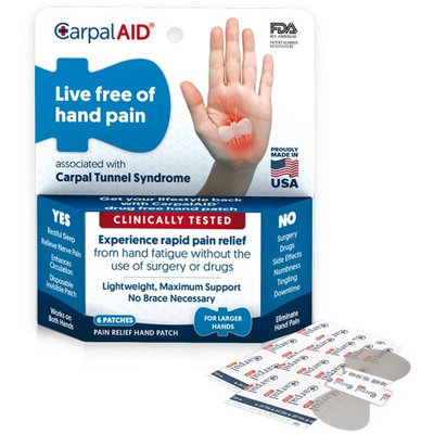 CarpalAID Functional Support for Carpal Tunnel Syndrome-Large-6/Pack