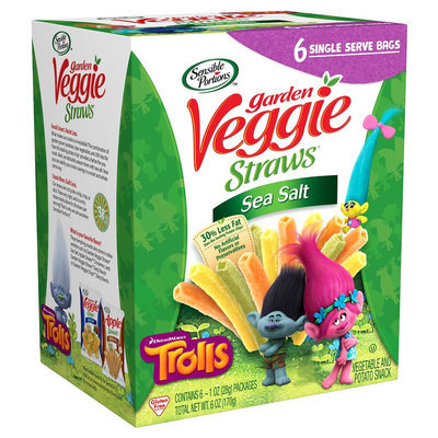 Sensible Portions Veggie Straws Sea Salt 1 oz, 6 pk