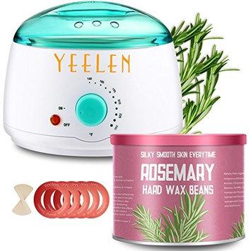 【Rosemary Essential Oil】Yeelen Hair Removal Waxing Kit Hot Wax Warmer Melting Pot for Women Legs, Underarms, Brazilian Bikini, Eyebrow, Face & Body At-home Waxing: Beauty