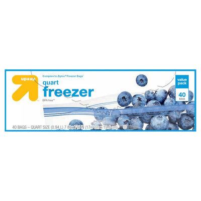 Reynolds Consumer Products Inc up & up Quart Freezer Bags Double Zipper 50 ct, Clear