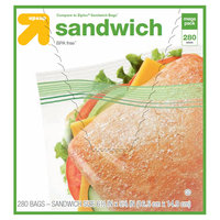 Double Zipper Sandwich Bags 300 ct - up & up, Clear