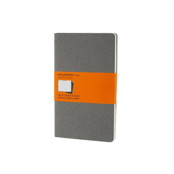 Moleskine Cahiers Ruled Journal: Light Warm Grey Large (Paperback)