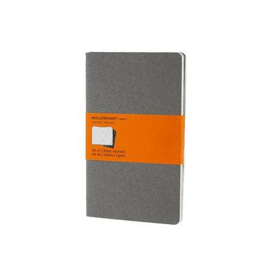 Moleskine Cahiers Ruled Journal: Light Warm Grey Large (Paperback)