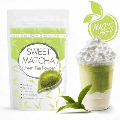 Sweet Matcha 2 (16oz) Made with USDA Organic Green Tea Matcha Boost Energy and Increase Focus