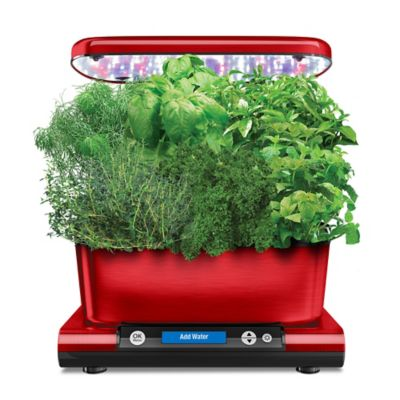 Miracle Gro AeroGarden Harvest Elite with Gourmet Herb Seed Pod Kit in Red, Red Stainless