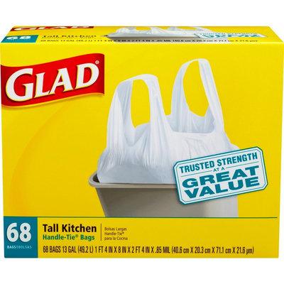 Clorox Glad White Tall Kitchen Handle-Tie Trash Bags 13 gal 68 ct