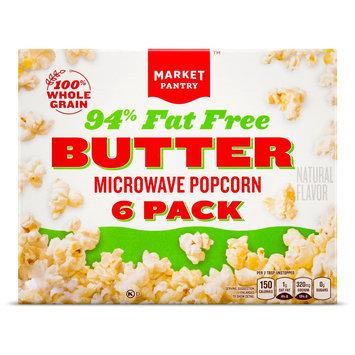 Market Pantry Butter 94% Fat Free Microwave Popcorn 6 pk