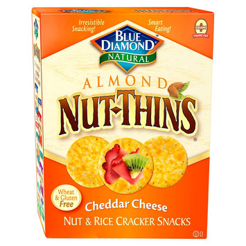 Blue Diamond Almond Nut-Thins Cheddar Cheese Cracker Snacks 4.25 oz