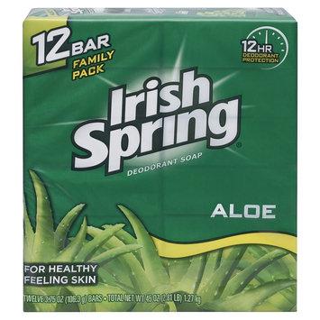 Irish Spring Aloe Bar Soap 3.75oz, 12 Pack