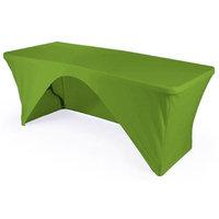 LA Linen TCSpandex-OB96x30x30-LimeX84 Rectangular Open Back Spandex Tablecloth Lime - 96 x 30 x 30 in.