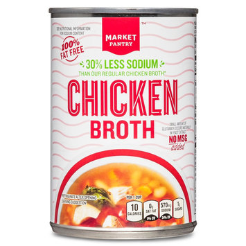 Reduced Sodium Chicken Broth 14.5 oz - Market Pantry