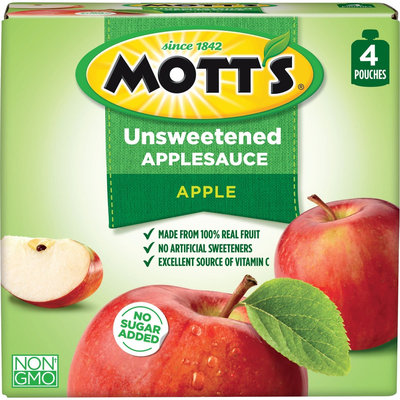 Mott's Snack & Go Natural Applesauce 3.2 oz 4 ct