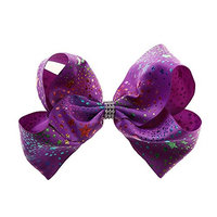 Baby Girls Large Hair Bows,Colorful Hairpin Girls Bows With Durable Metal Alligator Clip for Girls Toddlers Teenager Kids(8Inches)