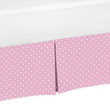 Sweet Jojo Designs Skylar Polka Dot Crib Skirt in Pink