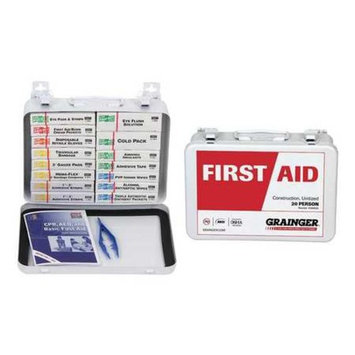 54581 First Aid Kit, Unitized, White, 20 People