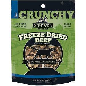 Redbarn Freeze Dried Crunchy Beef Cat Treats, 0.75-oz pouch