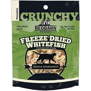 Redbarn Freeze Dried Crunchy Whitefish Cat Treats, 0.75-oz pouch