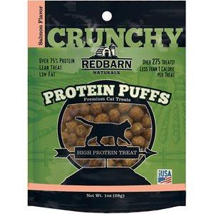 Redbarn Protein Puffs Salmon Flavor Cat Treats, 1-oz pouch