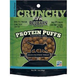 Redbarn Protein Puffs Turkey Flavor Cat Treats, 1-oz pouch