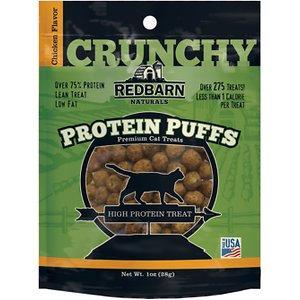 Redbarn Protein Puffs Chicken Flavor Cat Treats, 1-oz pouch