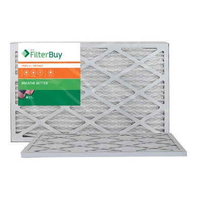 AFB Bronze MERV 6 12x25x1 Pleated AC Furnace Air Filter. Filters. 100% produced in the USA. (Pack of 2)