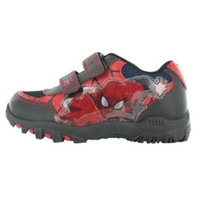 WILLIAM LAMB Spiderman Squire Black and Red Hook and Loop Trainers UK Sizes Child 7 - Adult 1